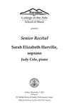Senior Recital: Sarah Elizabeth Harville, soprano