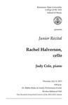 Junior Recital, Rachel Halverson, cello
