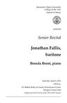 Senior Recital: Jonathan Fallis, baritone