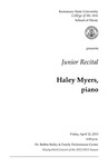 Junior Recital: Haley Myers, piano