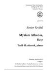 Senior Recital: Myriam Athanas, flute