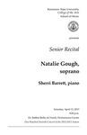 Senior Recital: Natalie Gough, soprano