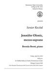 Senior Recital: Jennifer Olenic, mezzo-soprano