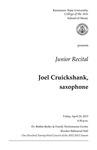 Junior Recital: Joel Cruickshank, saxophone