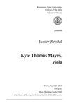 Junior Recital: Kyle Thomas Mayes, viola