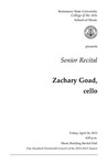 Senior Recital: Zachary Goad, cello