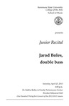 Junior Recital: Jarod Boles, double bass