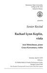 Senior Recital: Rachel Lynn Keplin, viola