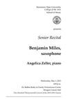 Senior Recital: Benjamin Miles, saxophone
