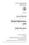 Junior Recital: Rachel Halverson, cello