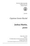 Capstone Senior Recital: Joshua Martin, piano