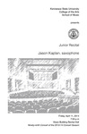 Junior Recital: Jason Kaplan, saxophone