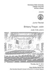 Junior Recital: Brittany Thayer, violin