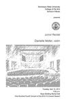 Junior Recital: Danielle Moller, violin