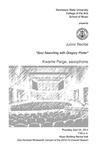 Junior Recital: Kwame Paige, saxophone