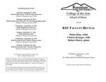 Faculty Recital: Helen Kim, violin, Charae Krueger, cello and Robert Henry, piano
