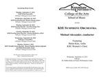 KSU Symphony Orchestra featuring Helen Kim, violin and KSU Women's Choir