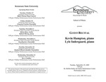 Guest Recital: Kevin Hampton and Lyle Indergaard, piano