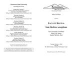 Faculty Recital: Sam Skelton, saxophone Eric Alexander, trombone Judy Cole, piano Jeanne Skelton, flute
