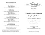 Symphony Orchestra : Concert Competition Winners