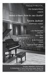 Faculty Recital: Tyrone Jackson, jazz piano,