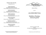Alumni Recital: Matthew Dunlap, classical guitar