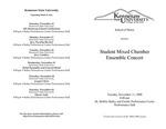 Student Mixed Chamber Ensemble Concert