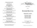 Senior Recital: Benjamin Ray