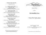 Junior Recital: Tsuey Wei Seah, piano
