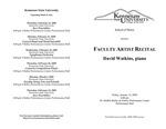 Faculty Artist Recital: David Watkins, piano