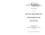 Faculty Artist Recital: Adam Kirkpatrick, tenor