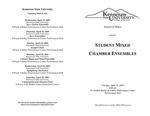 Student Mixed Chamber Ensembles