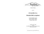 Junior Recital: Brandon Bell, saxophone