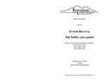 Junior Recital: Jim Sadler, jazz guitar