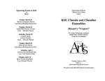 "KSU Chorale and Chamber Ensembles: Mozart's ""Vespers"""