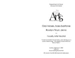 Oral Moses, bass-baritone and Rosalyn Floyd, piano: Faculty Arts Recital by Oral Moses and Rosalyn Floyd