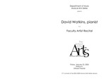Faculty Recital: David Watkins, piano