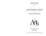 Faculty Recital: David Watkins, piano by David Watkins