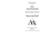 Jazz Ensemble: Have a Cool Yule! by Steven Watson