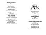 Songs of Samuel Barber and Ned Rorem: Teresa Hopkin, soprano