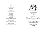 Faculty Recital: Mary Ackerman, guitar