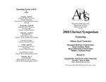 2004 Clarinet Symposium