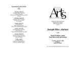 Faculty Recital: Joseph Eller, clarinet, David Watkins, piano and Tom Sherwood, percussion