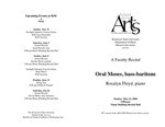 Faculty Recital: Oral Moses, bass-baritone
