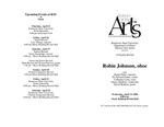 Faculty Recital: Robin Johnson, oboe