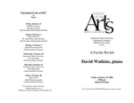 Faculty Recital: David Watkins, piano