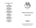 Senior Recital: William Ashworth, piano
