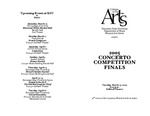 2005 Concerto Competition Finals