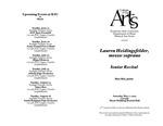 Senior Recital: Lauren Heidinsfelder, mezzo-soprano