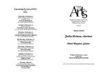 Guest Artist: Julia Heinen, clarinet